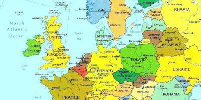 Luxemborg Kort Kort Luxemborg Vestur Evropu Evropu